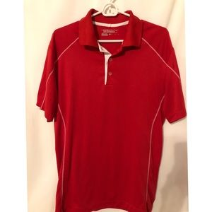 Nike Golf dry fit shirt M red with white accents